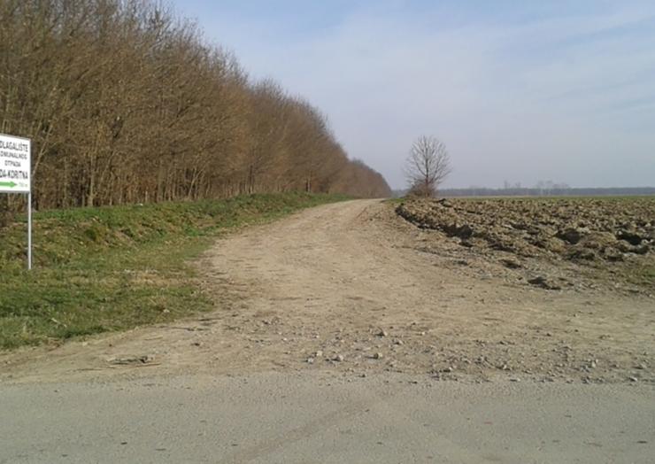 Izgradnja nerazvrstane ceste prema odlagalištu