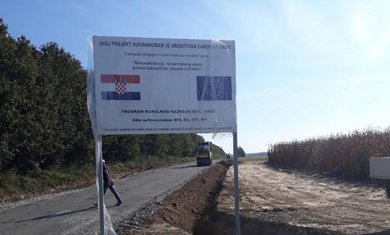 Rekonstrukcija ceste prema odlagalištu
