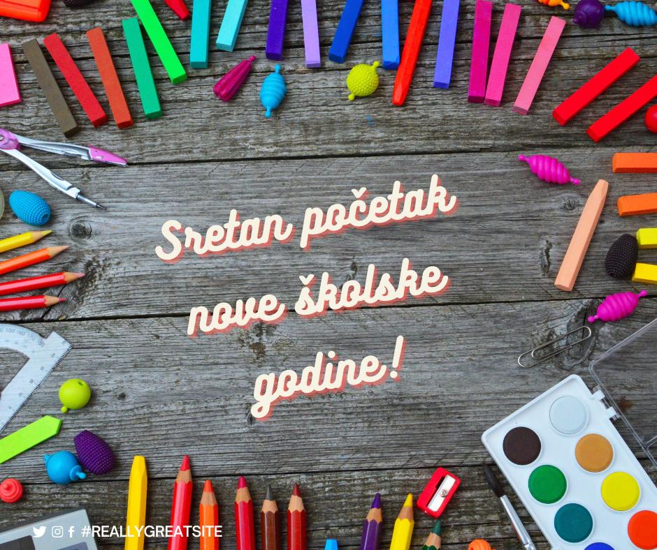 Sretan početak nove školske godine!
